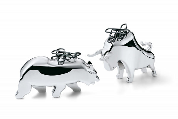 Bull and Bear Paperclip Holders
