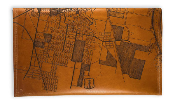 Leather Map Travel Wallet