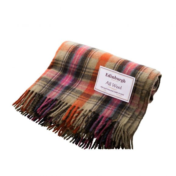 Bruce of Kinnaird Tartan Wool Blanket