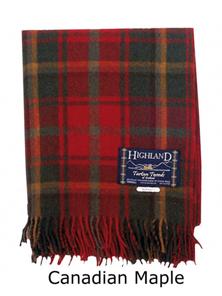 Canadian Maple Tartan Wool Blanket