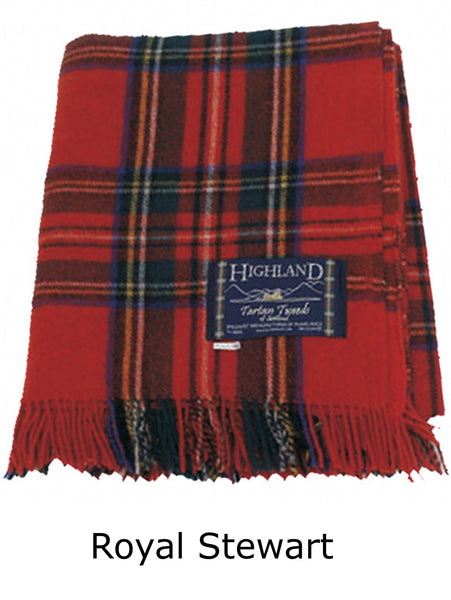 Royal Stewart Tartan Wool Throw