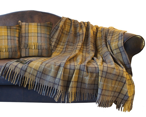 "Tartan Wool Throw Cushions 18"" x 18"""