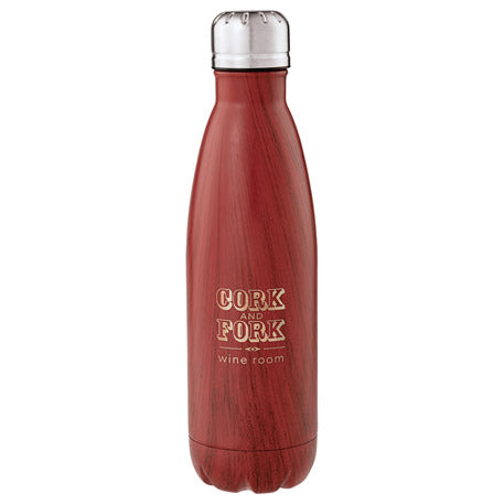 Beverage Ware: Copper Native Wood Vacuum Insulated Bottle 17oz