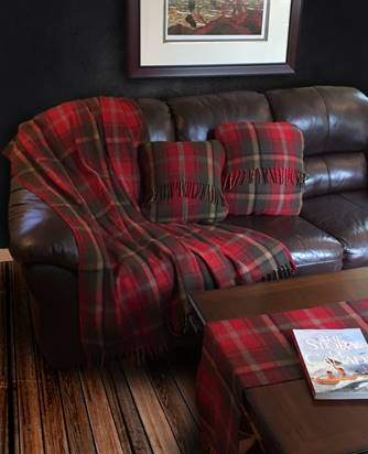 "Tartan Wool Throw Cushions 22"" x 22"""