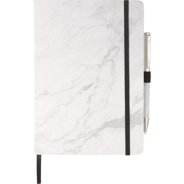 Business Gifts: Marble Hard Bound Journal & Pen Bundle