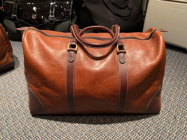 Top Grain Men's Leather Duffle Bag