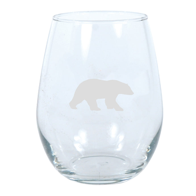 Polar Nation 17oz Stemless Wine Glass