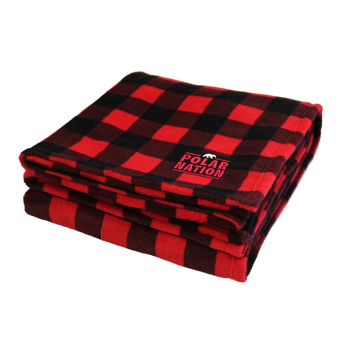 Polar Nation Buffalo Plaid Cabin Throw Blanket, Red/Black