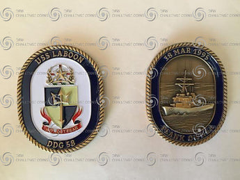 USS Laboon (DDG-58) Plank Owner Coin