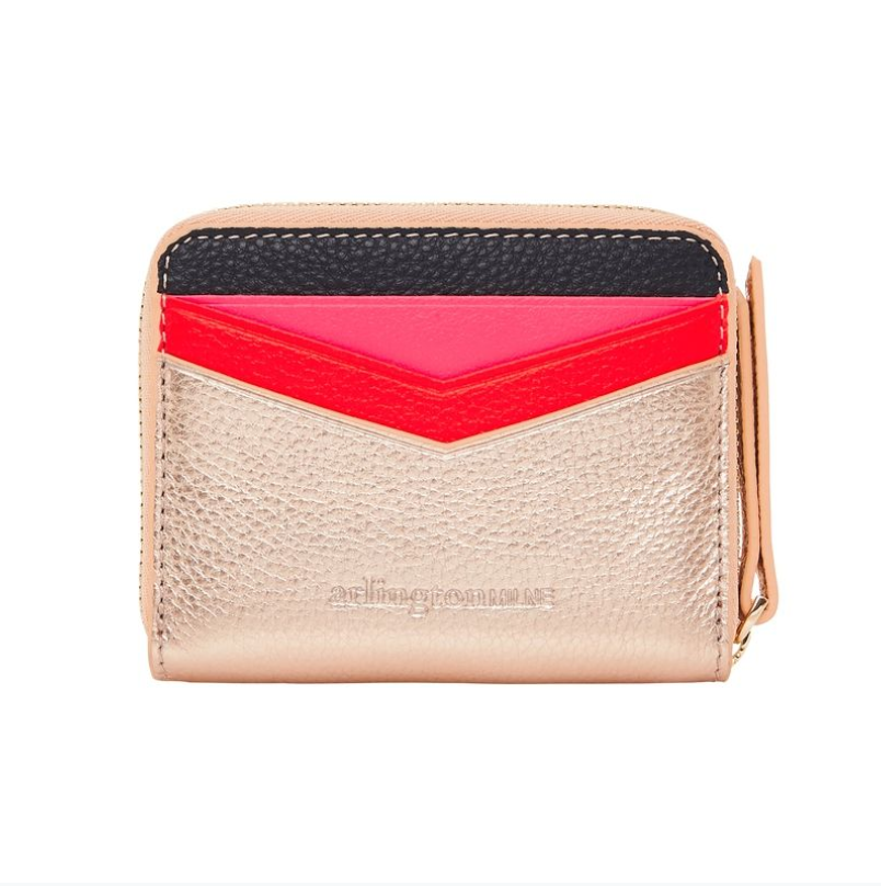 Alexis Zip Purse - Rose Gold Multi