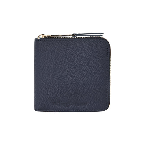 Zoe Leather Wallet (Navy Saffiano)