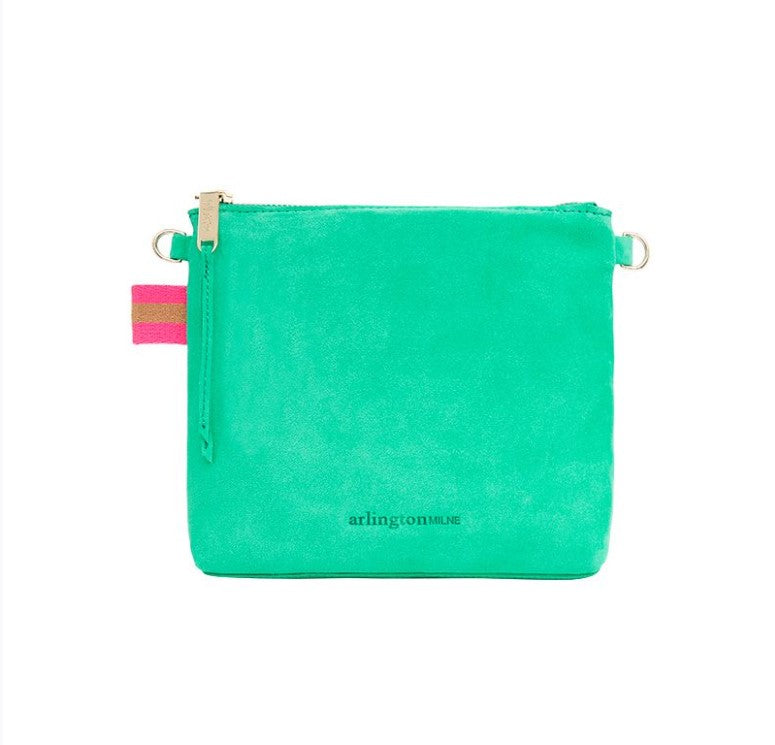 Alexis Crossbody - Emerald Suede