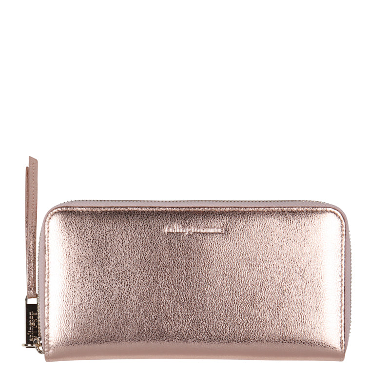 Grace Leather Wallet (Rose Gold) - Arlington Milne