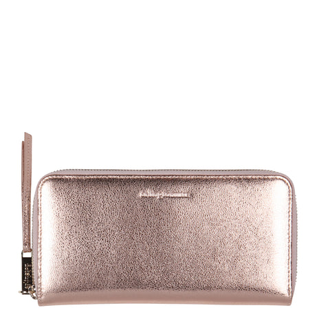 Grace Leather Wallet (Rose Gold)