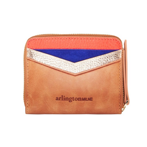 Alexis Zip Purse - Vintage Tan Multi