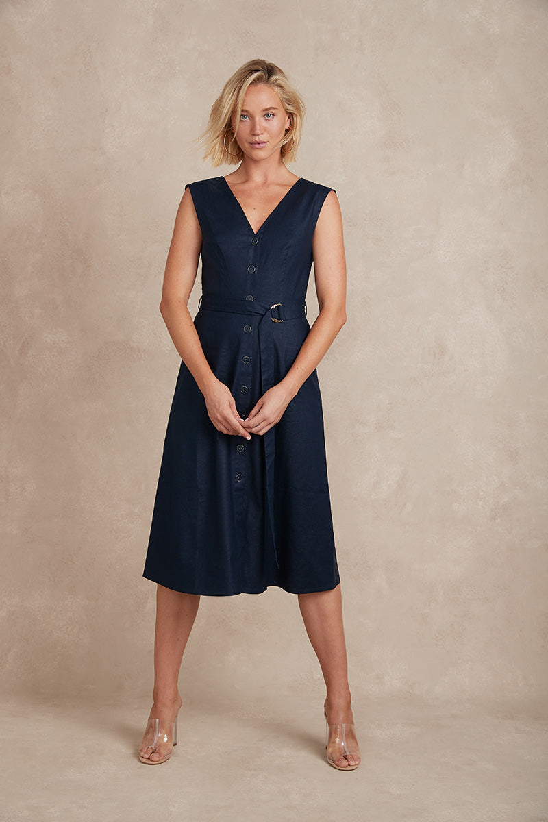 Avery Dress - Navy