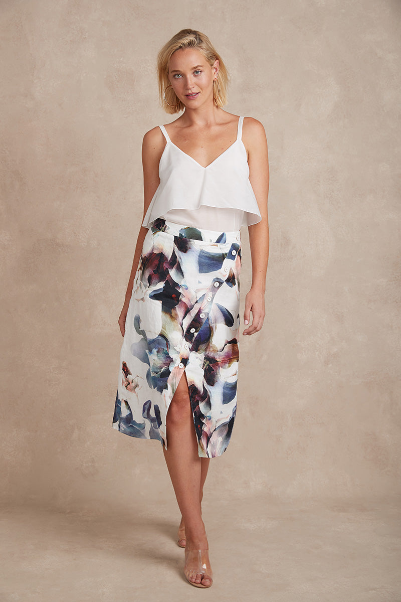 Bella Skirt - Bloom Print