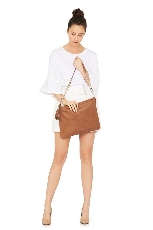 Coco Leather Bag (Vintage Tan with chain) - Arlington Milne