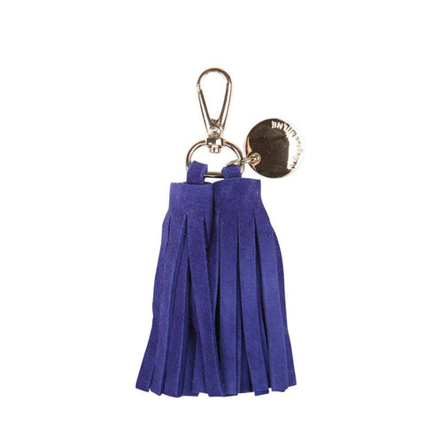 Double Leather Tassel (Cobalt)