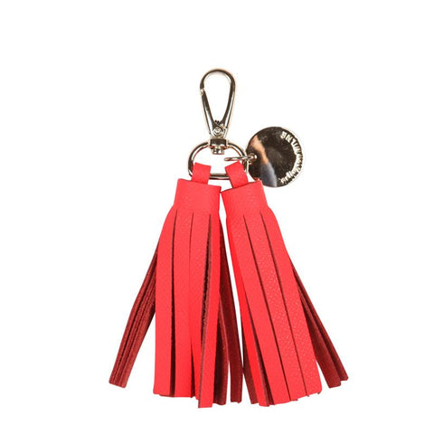 Double Leather Tassel (Tangerine)