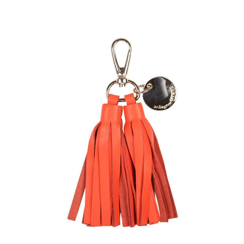 Double Leather Tassel (Tangelo)