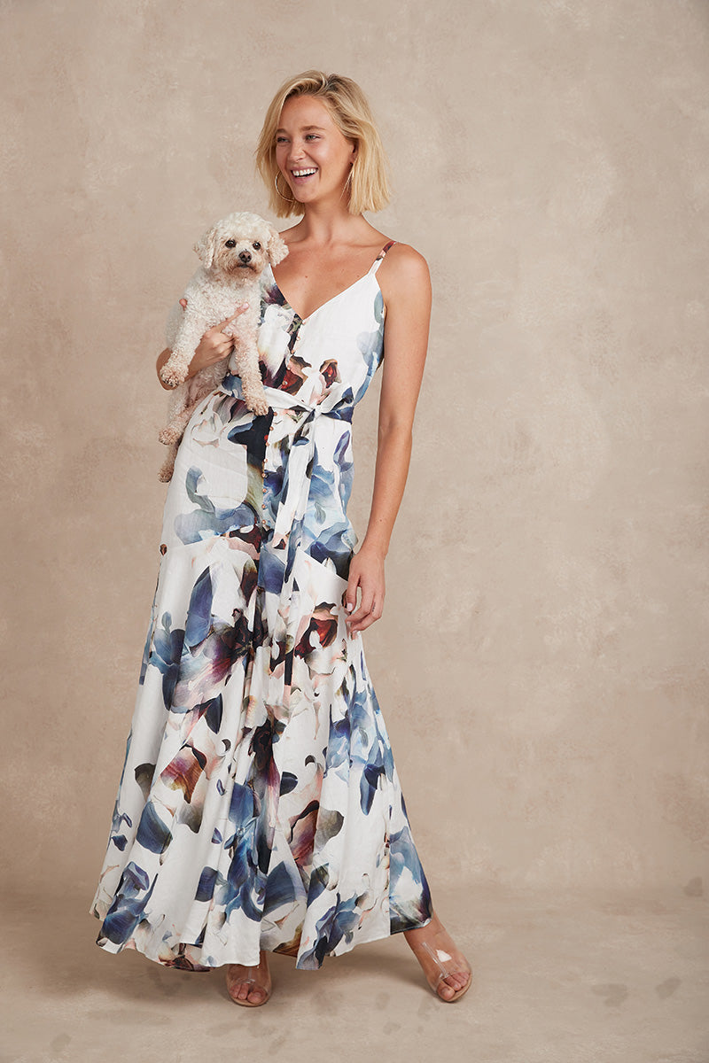 Eddie Maxi Dress - Bloom Print