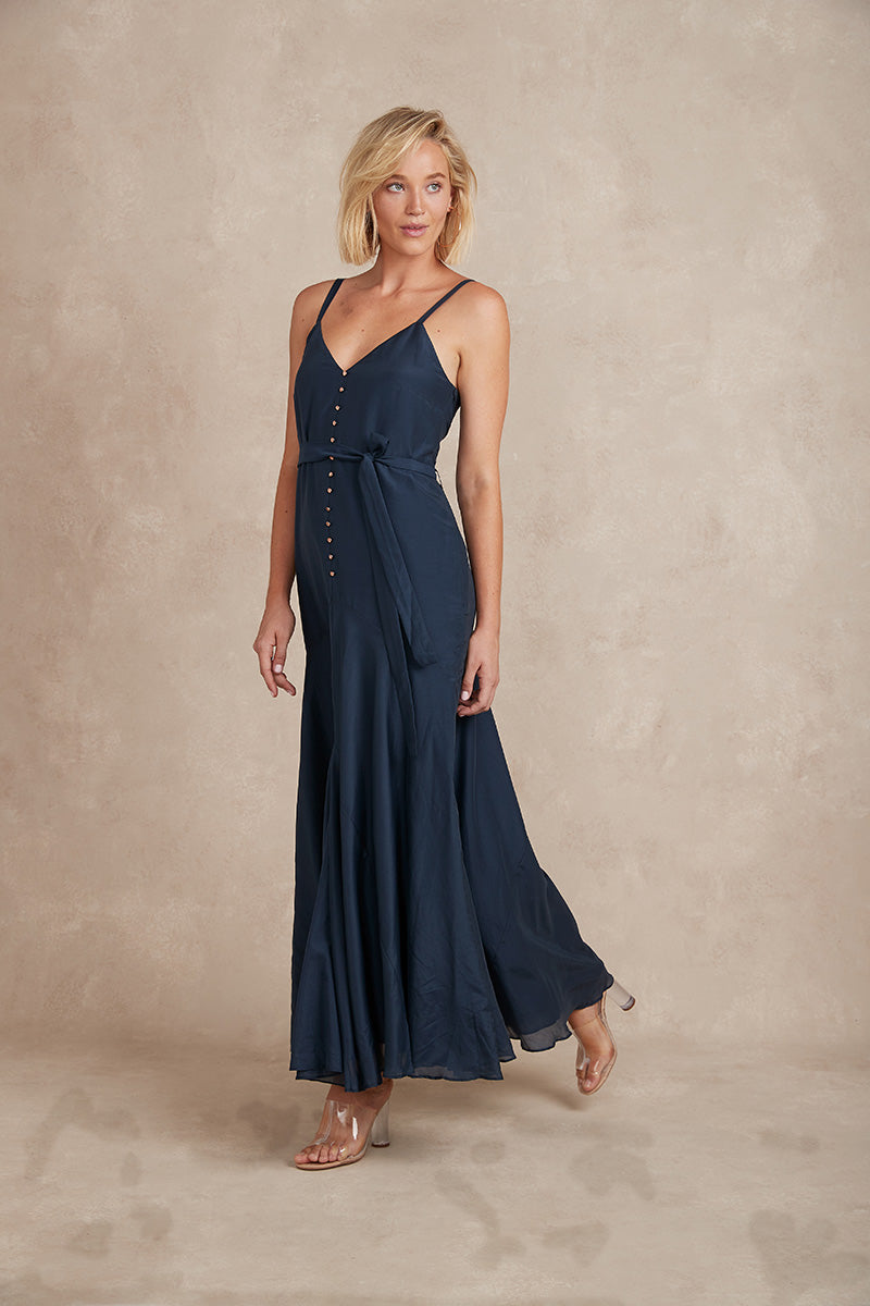 Eddie Maxi Dress - Navy