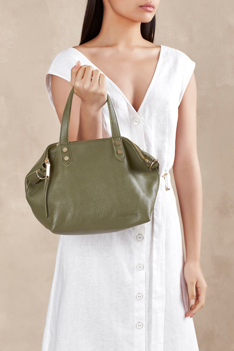 Paige Soft Tote Small - Olive
