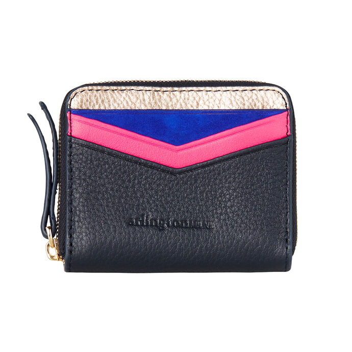 Alexis Zip Purse - Rose Gold to Navy