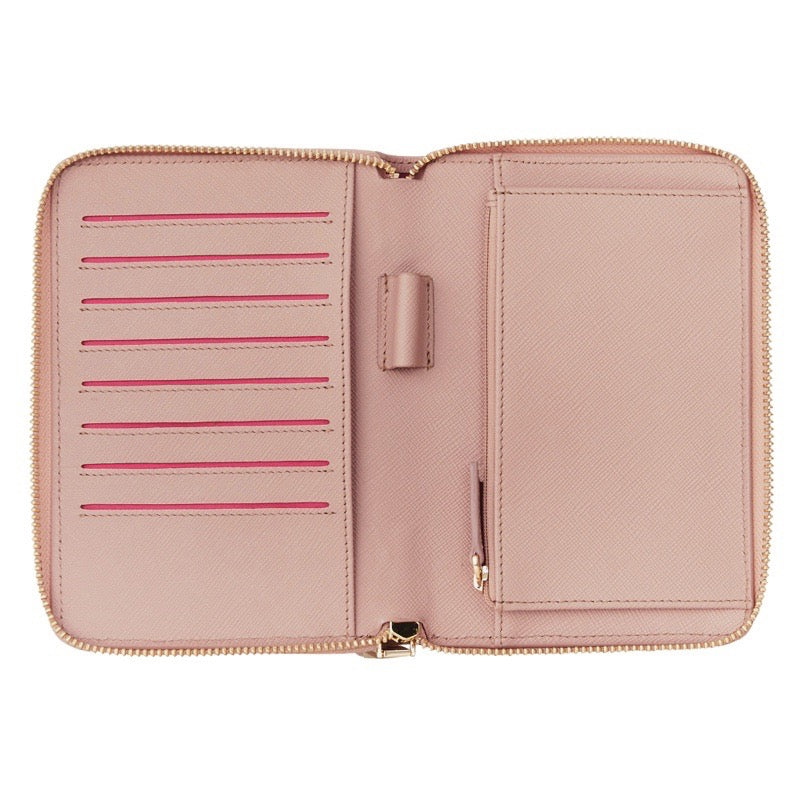 Emma Leather Wallet (Nude Saffiano) - Arlington Milne