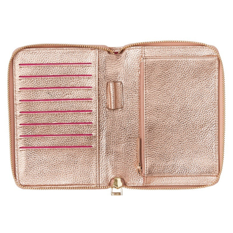 Emma Leather Wallet (Rose Gold) - Arlington Milne