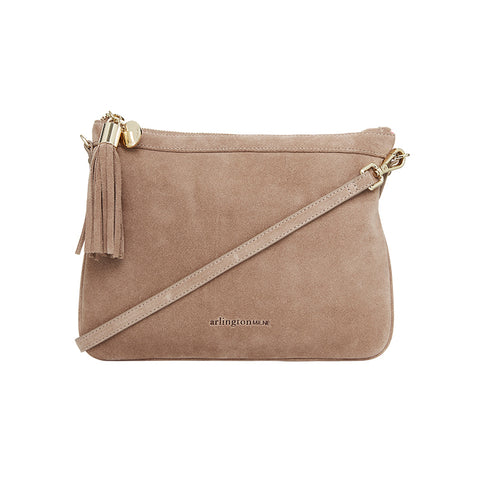 Coco Clutch - Fawn Suede