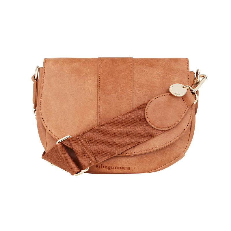 Zara Saddle Bag - Vintage Tan