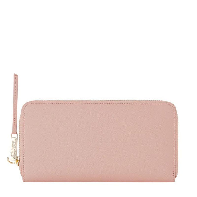 Grace Leather Wallet (Nude Saffiano) - Arlington Milne