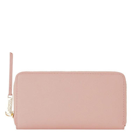 Grace Leather Wallet (Nude Saffiano)