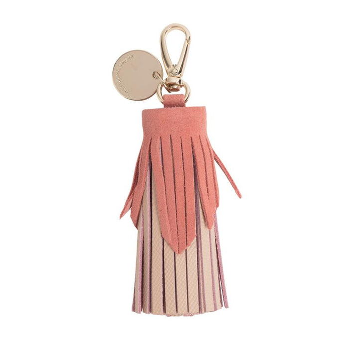 Tiered Leather Tassel (Nude / Blush) - Arlington Milne