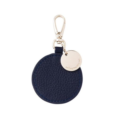 Circle Leather Tag (Navy)