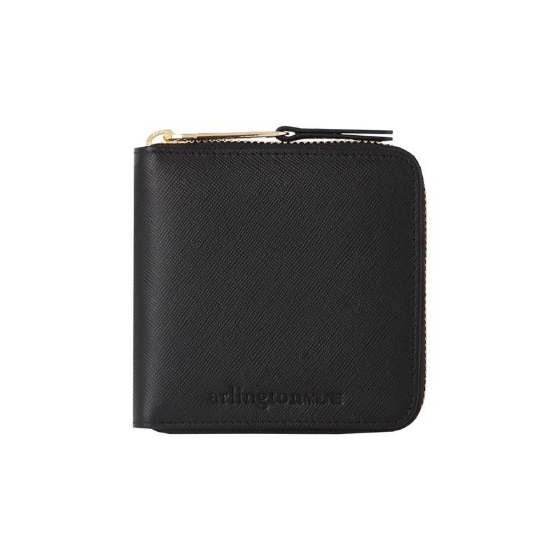 Zoe Leather Wallet (Black Saffiano) - Arlington Milne