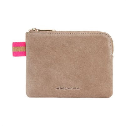 Paige Coin Purse - Fawn Suede