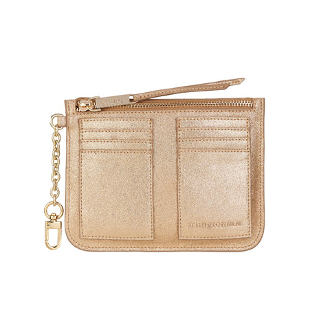 Coco Coin Purse - Gold Suede