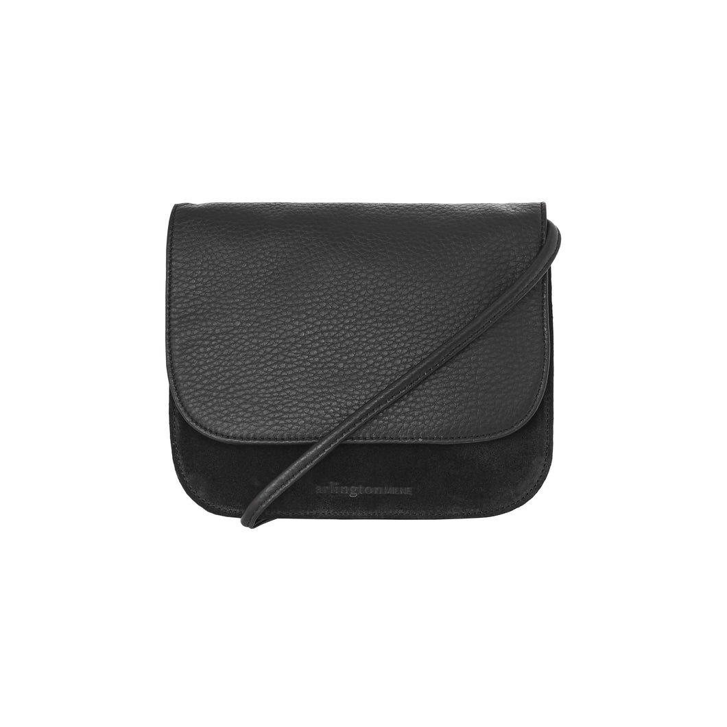 Anna Leather Crossbody Small (Black) - Arlington Milne