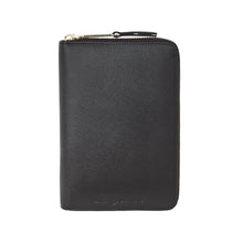 Emma Leather Wallet (Black Saffiano) - Arlington Milne