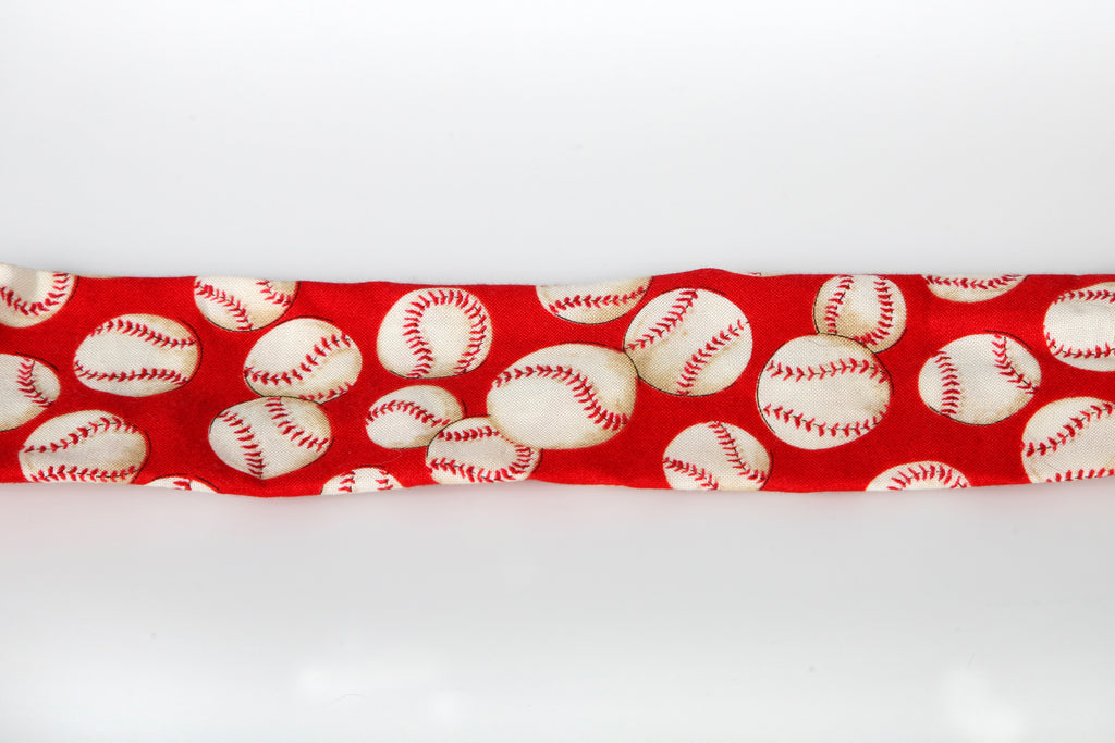 Bark & Wag Decorative Red Baseball Collar Cover