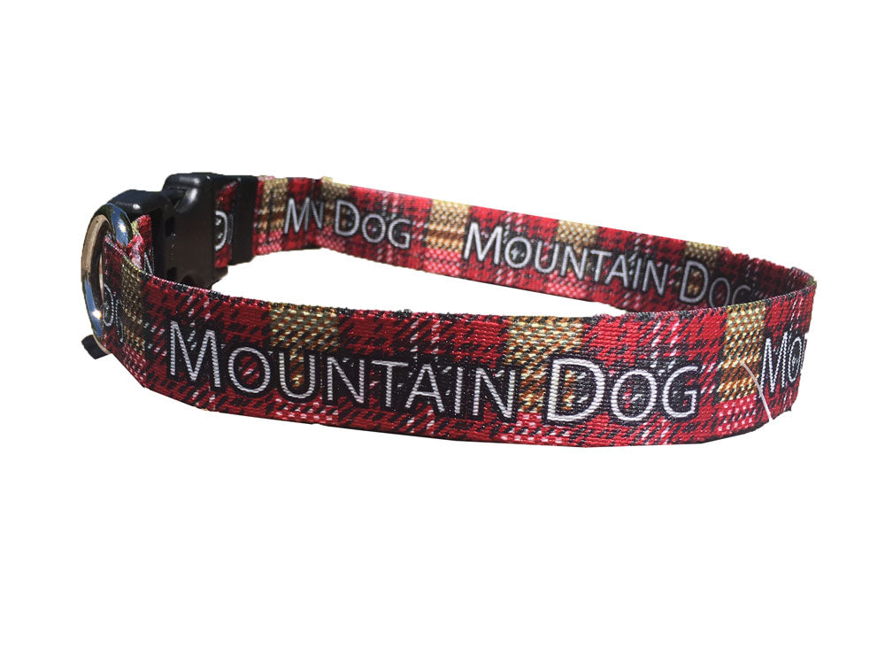 Bark & Wag Mountain Dog Plaid Collar