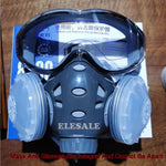 Respirator With Safety Glasses Dual Filters