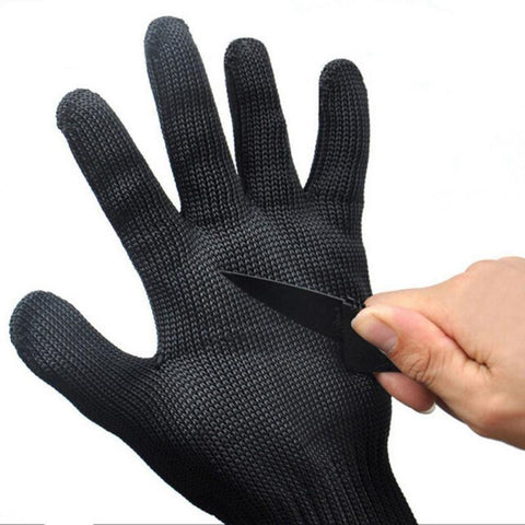 Black Mesh Cut Resistant Gloves