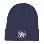 White Flower Beanie - Flower Children & Co.