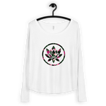 Ladies' Spring Floral Lotus - Long Sleeve