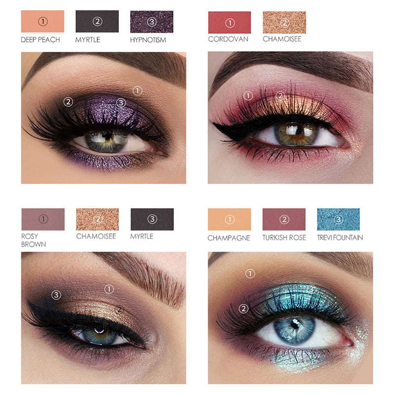 Bright Focallure High Quality 30 Colors Eyeshadow Palette Glitter Matte Powdery Shades Makeup Palette Eye Shadow Beauty Essentials