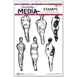 Dina Wakley Media Stamps - Abstract Figures